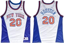 Allan Houston New York Knicks White New