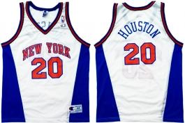 Allan Houston New York Knicks White Vneck