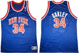 Charles Oakley New York Knicks Blue