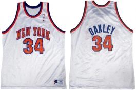 Charles Oakley New York Knicks White