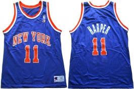 Derek Harper New York Knicks Blue
