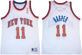 Derek Harper New York Knicks White