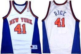 Glen Rice New York Knicks White Vneck