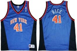 Glen Rice New York Knicks Blue Vneck