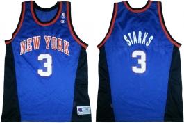 John Starks New York Knicks Blue Alternate White Numbers