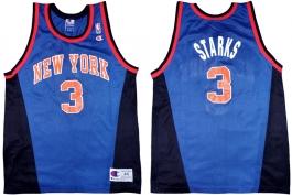 John Starks New York Knicks Blue Alternate