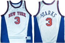 John Starks New York Knicks White New
