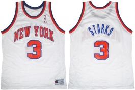 John Starks New York Knicks White