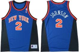 Larry Johnson New York Knicks Blue New