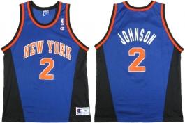 Larry Johnson New York Knicks Blue Alternate