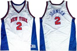 Larry Johnson New York Knicks White Vneck