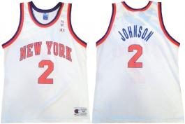 Larry Johnson New York Knicks White