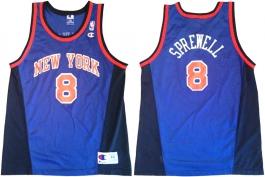 Latrell Sprewell New York Knicks Blue New
