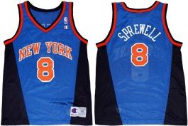 Latrell Sprewell New York Knicks Blue Vneck