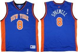 Latrell Sprewell New York Knicks Blue Vest