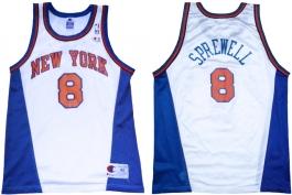 Latrell Sprewell New York Knicks White New