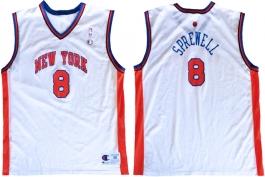 Latrell Sprewell New York Knicks White Vest