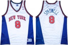 Latrell Sprewell New York Knicks White Vneck