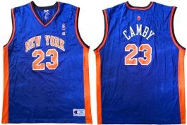 Marcus Camby New York Knicks Blue Vest