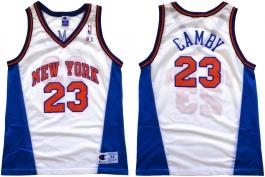 Marcus Camby New York Knicks White Vneck