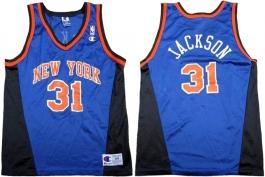 Mark Jackson New York Knicks Blue Vneck