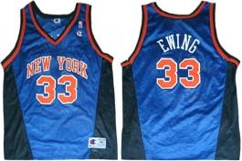 Patrick Ewing New York Knicks Blue New