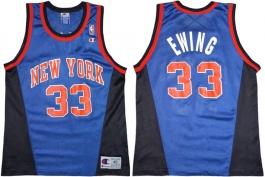 Patrick Ewing New York Knicks Blue Alternate