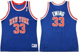 Patrick Ewing New York Knicks Blue