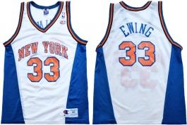 Patrick Ewing New York Knicks White Vneck
