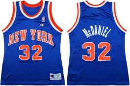 Xavier McDaniel New York Knicks Blue