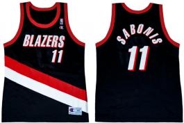 Arvydas Sabonis Portland Trailblazers Road Champion NBA Jersey (1998-1999)