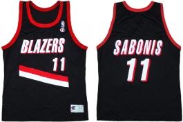 Arvydas Sabonis Portland Trailblazers Road Champion NBA Jersey (1995-1996)