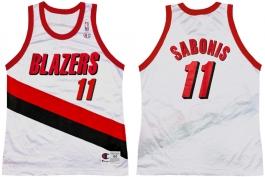 Arvydas Sabonis Portland Trailblazers Home Champion NBA Jersey (1998-1999)