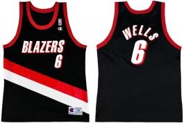 Bonzi Wells Portland Trailblazers Road Champion NBA Jersey (1998-1999)