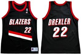 Clyde Drexler Portland Trailblazers Road Champion NBA Jersey (1992-1993)