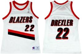 Clyde Drexler Portland Trailblazers Home Champion NBA Jersey (1992-1993)
