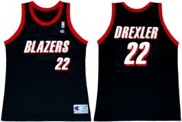 Clyde Drexler Portland Trailblazers Road Champion NBA Jersey (1991-1992)