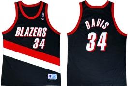 Dale Davis Portland Trailblazers Road Champion NBA Jersey (2000-2001)