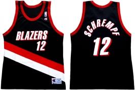 Detlef Schrempf Portland Trailblazers Road Champion NBA Jersey (1999-2000)
