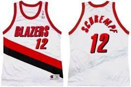 Detlef Schrempf Portland Trailblazers Home Champion NBA Jersey (1999-2000)