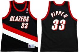 Scottie Pippen Portland Trailblazers Road Champion NBA Jersey (1999-2000)