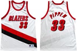 Scottie Pippen Portland Trailblazers Home Champion NBA Jersey (1999-2000)