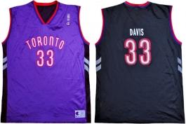 Antonio Davis Toronto Raptors Purple Vest