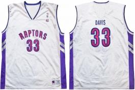 Antonio Davis Toronto Raptors White Vest