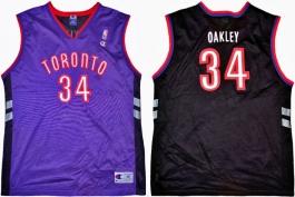 Charles Oakley Toronto Raptors Purple Vest