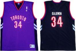 Hakeem Olajuwon Toronto Raptors Purple Vest