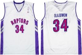 Hakeem Olajuwon Toronto Raptors White Vest