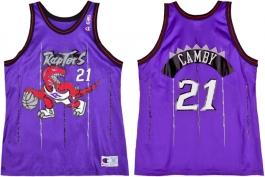 Marcus Camby Toronto Raptors Purple Pinstripe