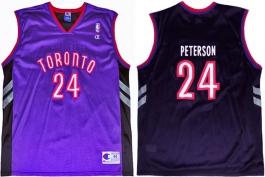 Morris Peterson Toronto Raptors Purple Vest