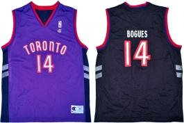 Mugsy Bogues Toronto Raptors Purple Vest